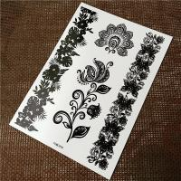 Buy cheap OEM Service Black Tattoo Stickers Non Toxic Glitter Flash Temporary Tattoos product