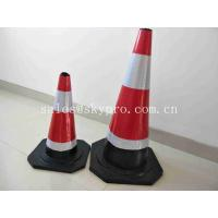 China Road Soft Plastic Fluorescent Flexible Roadway Safety Rubber Traffic Cones on sale