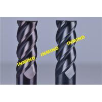 10mm  / 12mm Cnc Milling Cutting Tools , Carbide High Hardness Helical End Mills With SiN Coating