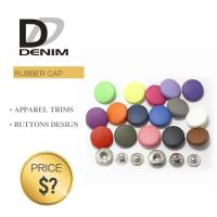 China Combined Round Metal Snap Button Plastic Rubber Effect Cap Matt Painted For Clothing on sale