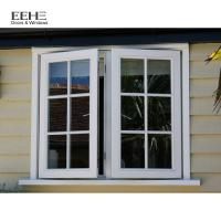 China High Strength Aluminum Casement Windows Hassle Free Cleaning Grill Design on sale