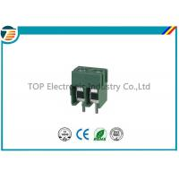 China Pitch 5.0mm PCB Screw Terminal Block Connector 2 PIN Green Color on sale