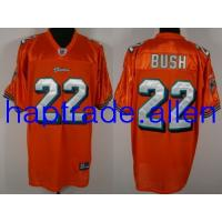 Quality Jerseys Wholesale 100% Nylon Mesh Miami Dolphins 22# Reggie Bush Authentic Orange Jerseys Wholesale free shipping and mix order for sale