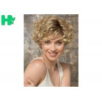 Quality Ladies New Stylish Synthetic Dark Blonde Short No lace Full Hair Wig for sale
