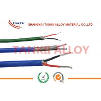 Quality Teflon insulated blue / red thermocouple cable  type JX KX EX with superfine bare wire conductor for sale