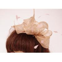 Quality Silver Pink Autumn Sinamay Fascinator With Silver Wire , Fascinators Headwear For Christmas for sale