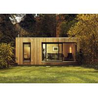 China CFC Board Ceiling Prefab Garden Studio Wooden House Kit With WPC Wall Cladding on sale