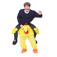 Quality Polyester / Spandex Halloween Man Riding Chicken Costume With Embroidery Logo for sale