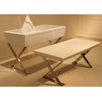 Quality Wooden Cosmetic Display Table / Jewelry Display Desk With Glass Surface for sale