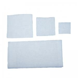 Quality 21s Yarn Unfolded / Folded Edge Swab Bandage With X Ray for sale