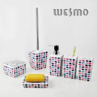 Quality WBP0232A 6 Piece  Modern Resin Bathroom Sets for sale
