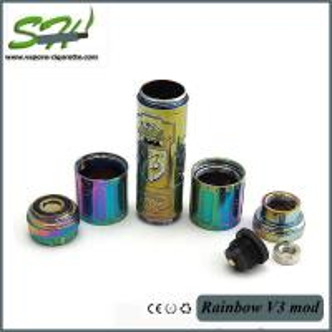 China Green V3 26650 Mechanical Mod , Vapor E Cigarette Flat Top 510 Atomiser on sale