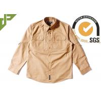 Buy cheap Breathable Brown Tactical Police Uniform , Woodland Combat Uniform Regular Fit from wholesalers