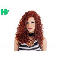 Buy cheap High Quality Synthetic Wigs Red Color No Lace Synthetic Curly Wigs Natural Looking product
