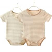 China New Born Baby Clothing Baby Toddler Clothes Organic Cotton Plain Romper on sale
