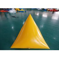 China Triangle Shape Yacht Race Market Inflatable Buoys For Water Triathlons Advertising on sale