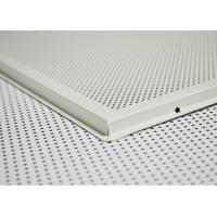 China Sound reducing Acoustic Ceiling Tiles , Acoustic Drop Ceiling Tegulars 600*600mm on sale