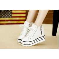 China 2015 new Asia style canvas shoes height increasing navy wind women's shoes Students casual shoes on sale