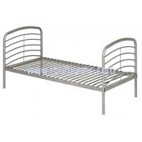 Buy Durable Heavy Duty Silver Metal Single Bed Frame Metal Bedroom Furniture Powder Coating at wholesale prices
