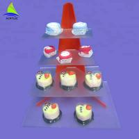 Quality Custom Acrylic Cake Tray Cupcake Stand Customized Thickness CE Certification for sale