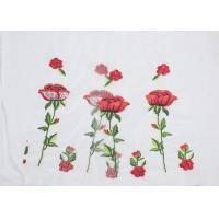 Quality Polyester Embroideried Mesh Rose Lace Fabric , Floral Lace Netting Fabric OEM Service for sale