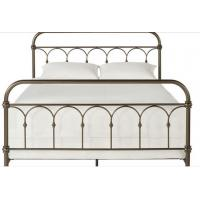 Quality Atmosphere Adults Designs Plain Metal Frame Full Bed , 125mm Height King / Queen Size Iron Bed for sale