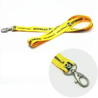 Buy cheap Simple fashion sublimation cheap printed logo DIY Yellow lanyard with dog metal from wholesalers