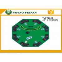Quality 48 Inch 8 Person Poker Table MDF Casino Blackjack Poker Table Custom Poker Table Tops for sale
