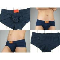 Quality Blue OEM ODM Knitted Production Eco-Friendly Breathable Personalised Underwear For Men for sale
