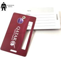 Quality PersonalizedPVC Business Cards Offset Printing , Travel Luggage Name Tag Airlines supply for sale
