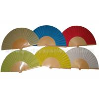 Buy Single Color  Spainish Wooden Hand Fans at wholesale prices