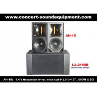 """Buy cheap 600W Concert Sound Equipment , 1.4"""" + 15"""" Full Range Speaker For Show , Conference , Living Event And DJ product"""