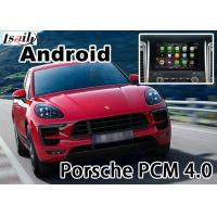 Quality Porsche Macan Cayenne PCM4.0 gps navigation devices with rear view WiFi BT video android app for sale
