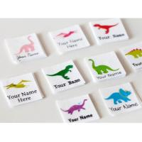 Buy cheap Kids Animal Design Custom Printed Clothing Labels Cotton Printed Dinosaur from wholesalers