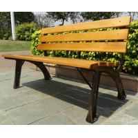 Quality Stable Metal / Wood Structure Decorative Outdoor Furniture Modern Outdoor Bench With Backrest Board for sale