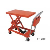 Quality Fireproof Electric Hydraulic Lift Table , 200kg Industrial Lift Tables For Logistics for sale