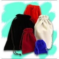 Quality High Quality Custom Wine Velvet Drawstring Bag With Silk Screen Printing for sale