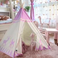 China Newest Kids Princess Castle Play Tent Girls Indoor Outdoor Folding House Tent Children Game House Teepee on sale