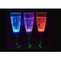 Blue / Red Light Up Plastic Cups , Beverage / Wine Glow Party Cups