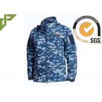 Quality Soft Shell Military Tactical Jackets 100% Polyester With Loop Knitting For Autumn for sale