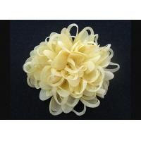 Quality Bright Yellow  Up To 70% Discount Chrysanthemum Pattern Fabric Flower Brooch Pin for sale