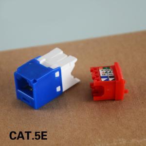 China UTP Cat5e RJ45 Keystone Jack 180 Degree Category 5e Network Modular Jacks 5 Colors on sale
