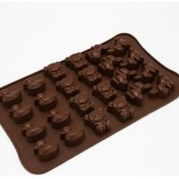 Quality Animal Shaped Silicone Chocolate Molds Unique Deisgn For Kids Children for sale