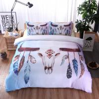 Quality Dream catcher Bedding Set comforter bedding sets king Bohemian Print Bedclothes King Colorful Feathers Duvet Cover set for sale