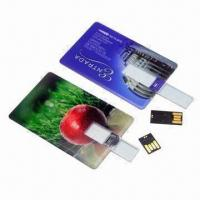 Quality Card-shaped USB Flash Drives with 16MB to 32GB Capacity, Support Plug-and-play Function for sale