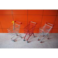 Quality Custom Unfolding Supermarket Shopping Trolley , Metal Shopping Cart for sale