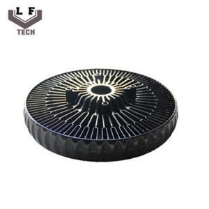 ADC12 Powder Coating Aluminium Die Castings Sun Flower Aluminum CPU Heat Sink