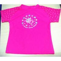 China Happy Red Swim T-Shirt, Kids Beach Wear, Children Swimwear on sale