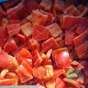 Frozen Red Pepper cubes