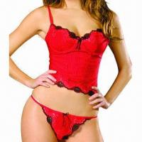 Buy cheap Women's corset/romantique corset, various colors are available from wholesalers